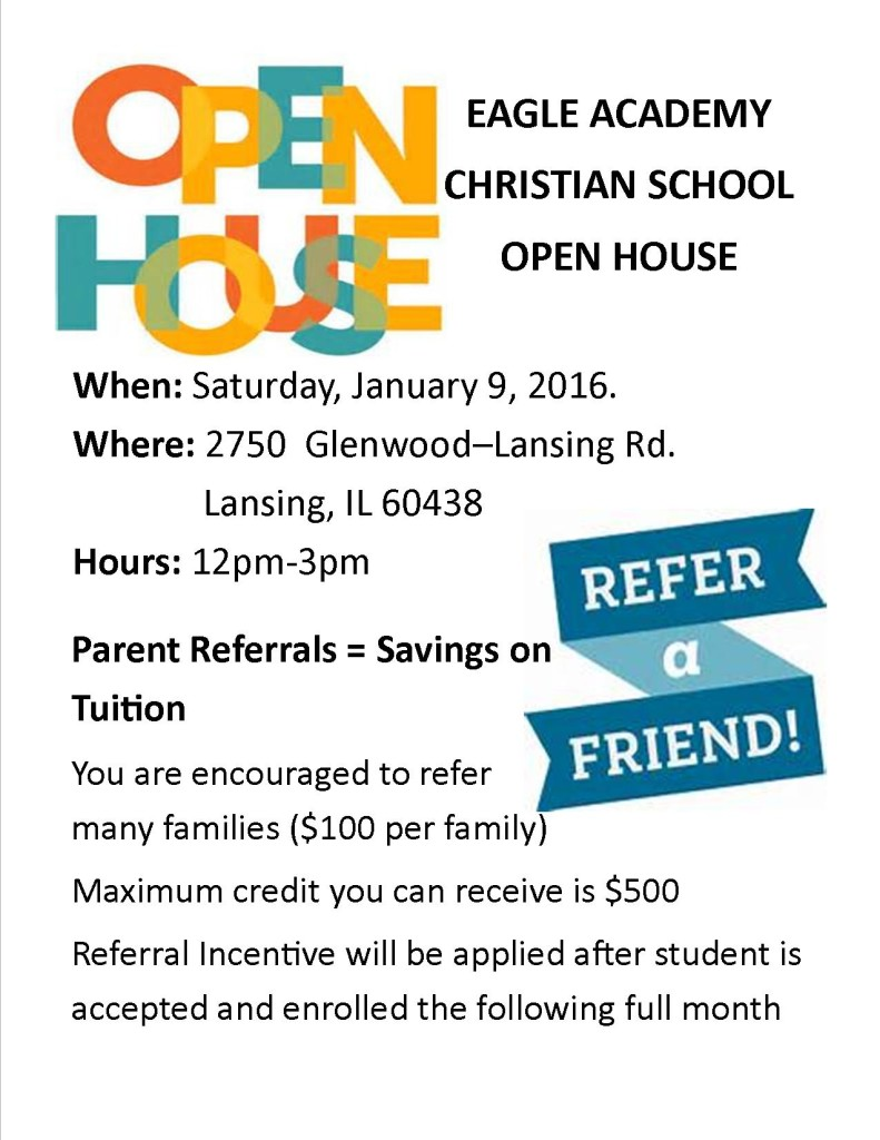 Ope house-refer a freind flyer